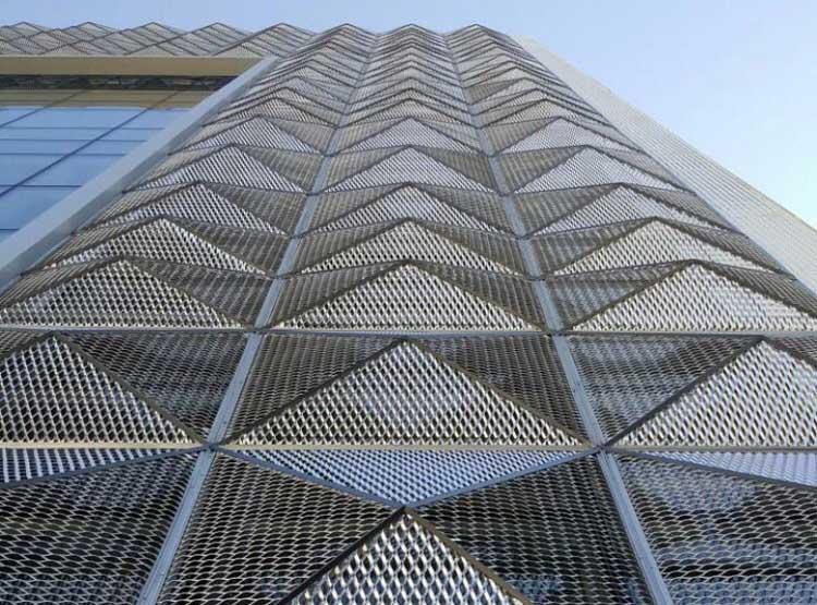 انواع نمای ساختمان , نمای استرچ متال