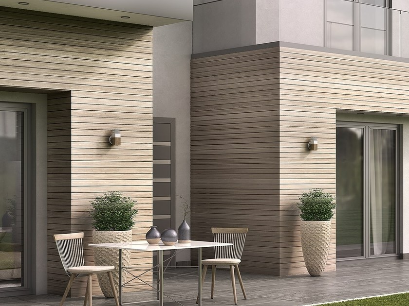 نمای چوبی ساختمان
